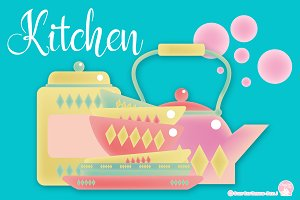 Digital Clipart  Kitchen