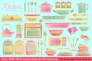 Kitchen Digital Clipart