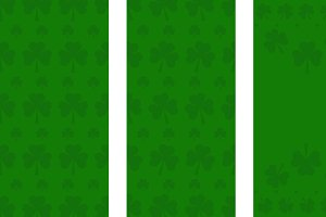 St Patricks green Pattern banner