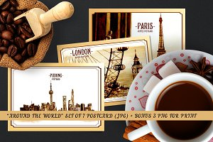 """Around The World"" coffee card"