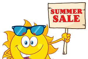 Summer Sun Cartoon Mascot Character