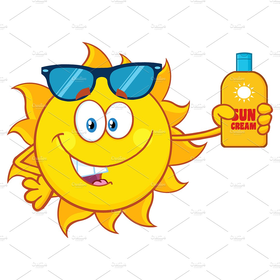 Cute Sun With Sunglasses ~ Illustrations ~ Creative Market