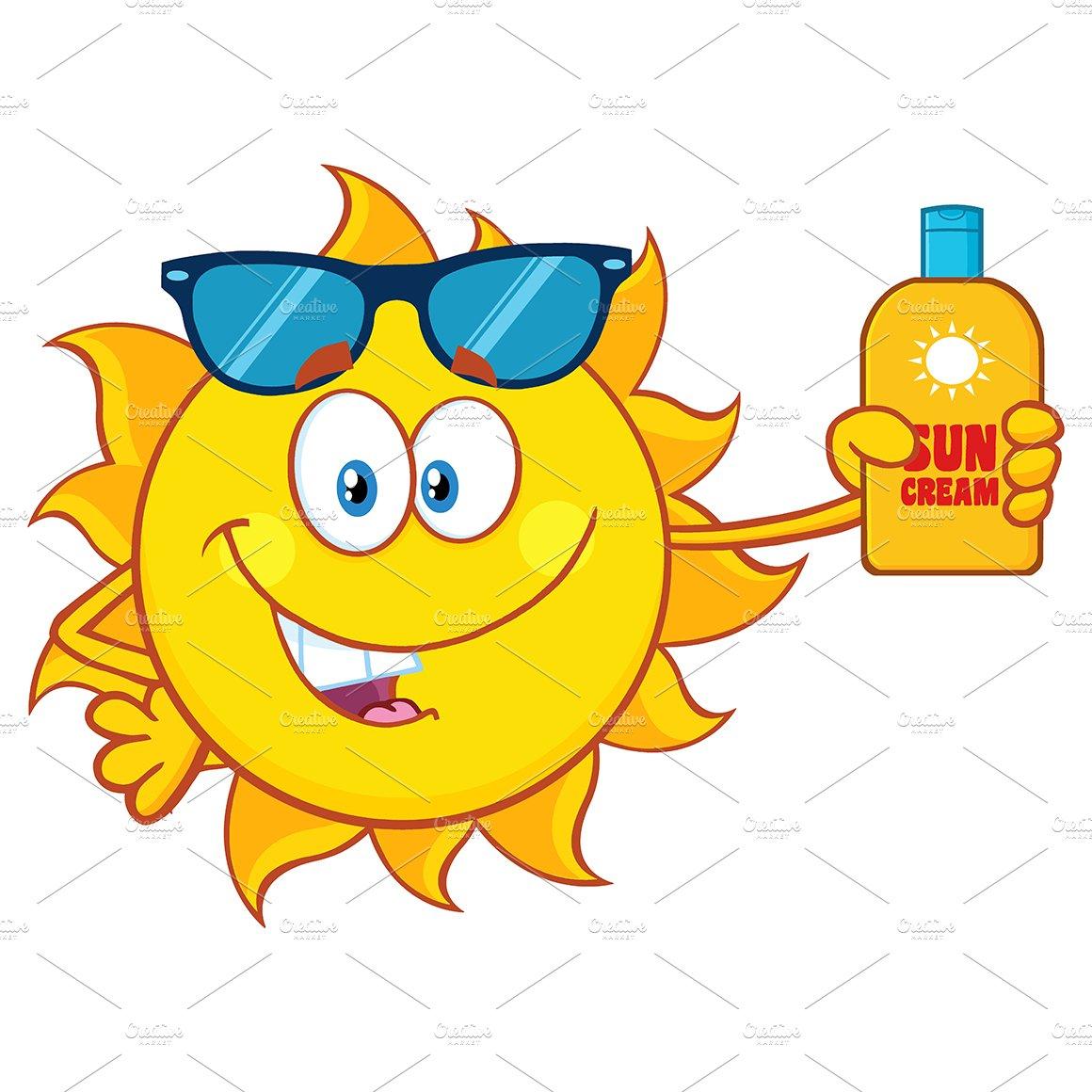 Cute Sun With Sunglasses ~ Illustrations ~ Creative Market