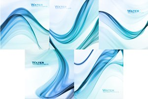 Set of Abstract water background