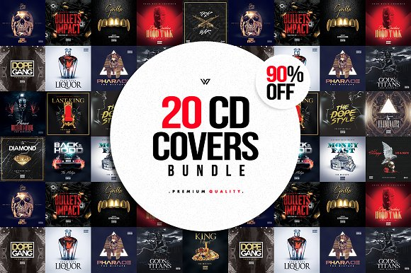 20 CD COVER TEMPLATES / 90%OFF in Templates