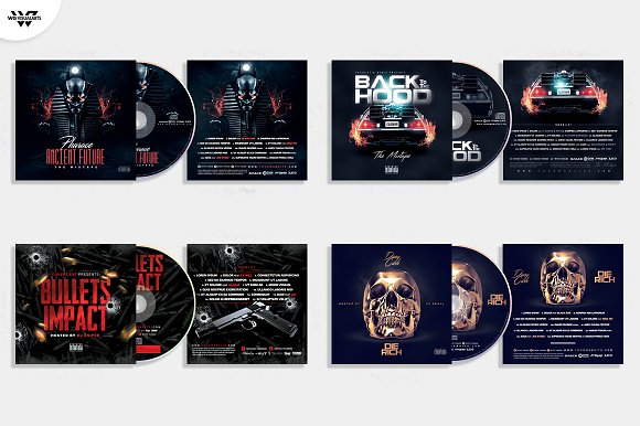 20 CD COVER TEMPLATES / 90%OFF in Templates - product preview 1