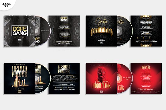 20 CD COVER TEMPLATES / 90%OFF in Templates - product preview 2