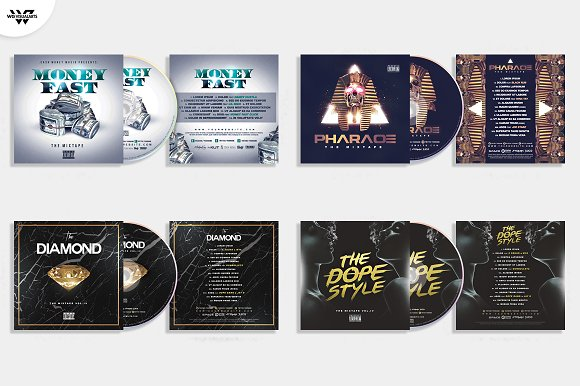 20 CD COVER TEMPLATES / 90%OFF in Templates - product preview 4