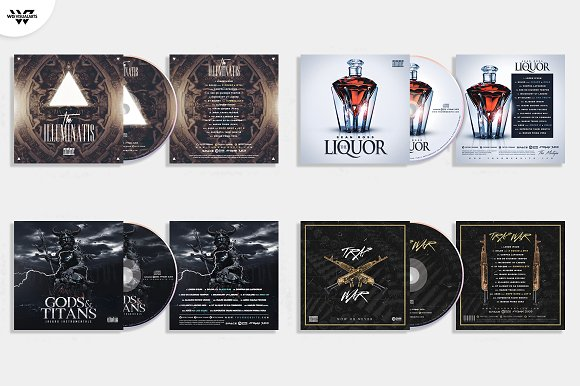 20 CD COVER TEMPLATES / 90%OFF in Templates - product preview 5