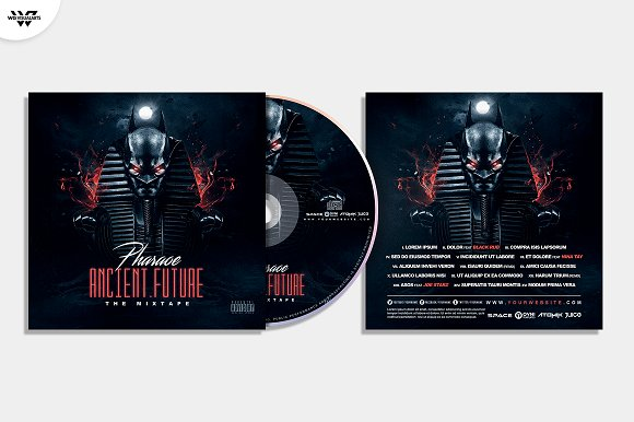 20 CD COVER TEMPLATES / 90%OFF in Templates - product preview 6