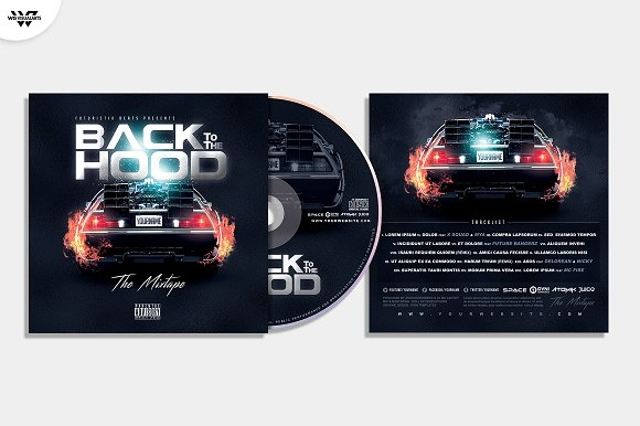 20 CD COVER TEMPLATES / 90%OFF in Templates - product preview 7