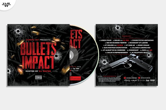 20 CD COVER TEMPLATES / 90%OFF in Templates - product preview 8