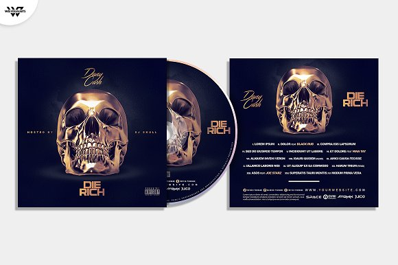 20 CD COVER TEMPLATES / 90%OFF in Templates - product preview 9