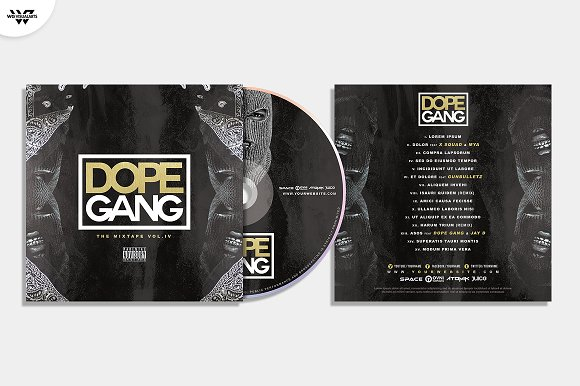 20 CD COVER TEMPLATES / 90%OFF in Templates - product preview 10