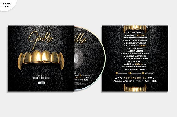 20 CD COVER TEMPLATES / 90%OFF in Templates - product preview 11