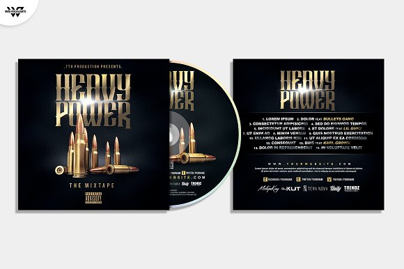 20 CD COVER TEMPLATES / 90%OFF in Templates - product preview 12