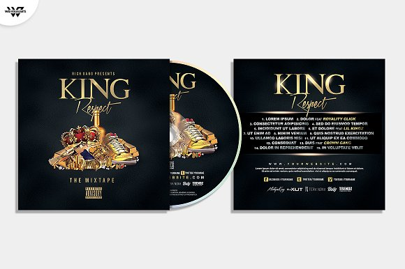 20 CD COVER TEMPLATES / 90%OFF in Templates - product preview 14