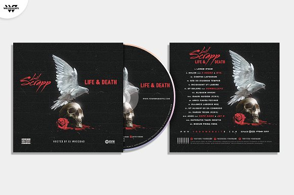 20 CD COVER TEMPLATES / 90%OFF in Templates - product preview 16