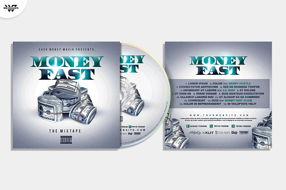 20 CD COVER TEMPLATES / 90%OFF in Templates - product preview 18