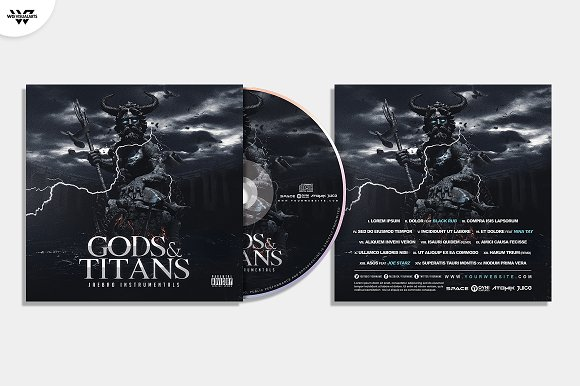 20 CD COVER TEMPLATES / 90%OFF in Templates - product preview 24