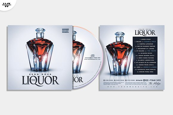 20 CD COVER TEMPLATES / 90%OFF in Templates - product preview 25
