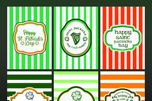 St Patricks card pack