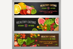 Vector Food Banners