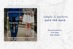Modern Save the Date Template
