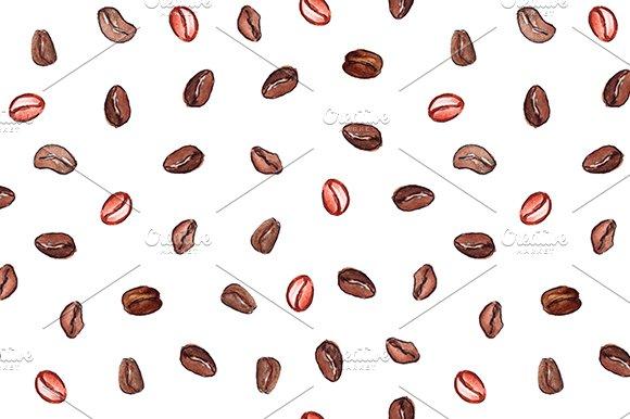 Coffee Beans Seamless Pattern