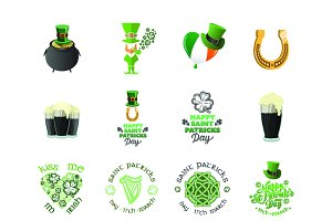 St Paddys day icons