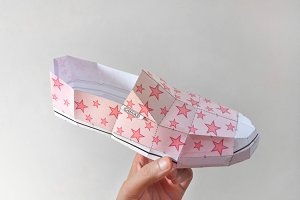 DIY Canvas Shoe - 3d papercrafts