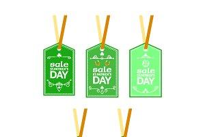 St Paddys sales labels
