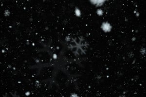 Snowflakes Abstract Blur