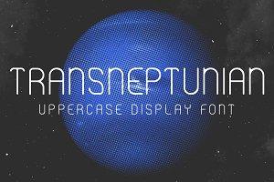 Transneptunian - Uppercase font