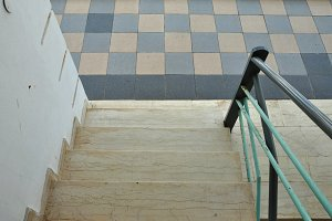Steps Tiled Floor