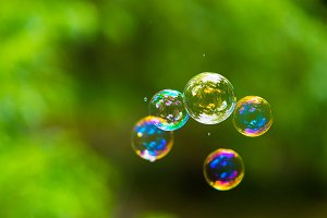 Rainbow soap bubble