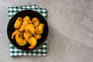 Deep fried shrimps