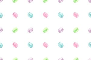 Watercolor macaroon seamless pattern
