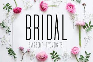 Bridal Sans Serif - Multi Weight