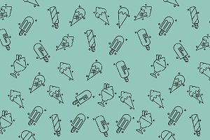 Ice-cream icons pattern
