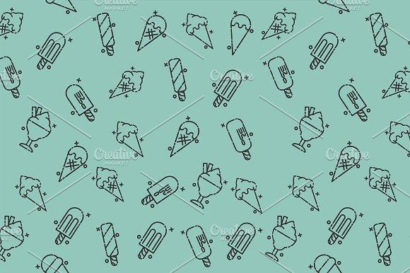 Ice-cream Icons Pattern