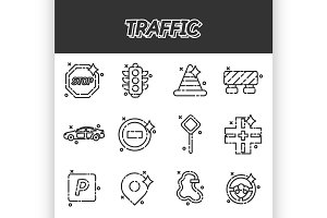 Traffic icons pattern