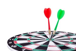 Dart arrows targeting the center