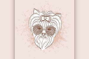 Vector sketch of elegant dog