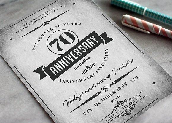 Anniversary Invitation Card