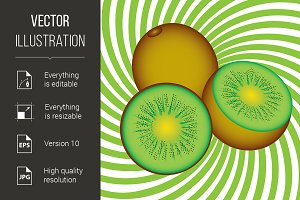Ripe kiwi
