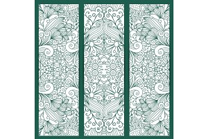 Creative vertical flyers white blue pattern