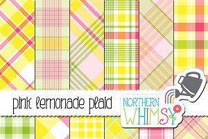 Pink, Yellow & Green Summer Plaid