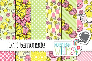 Pink Lemonade Seamless Patterns