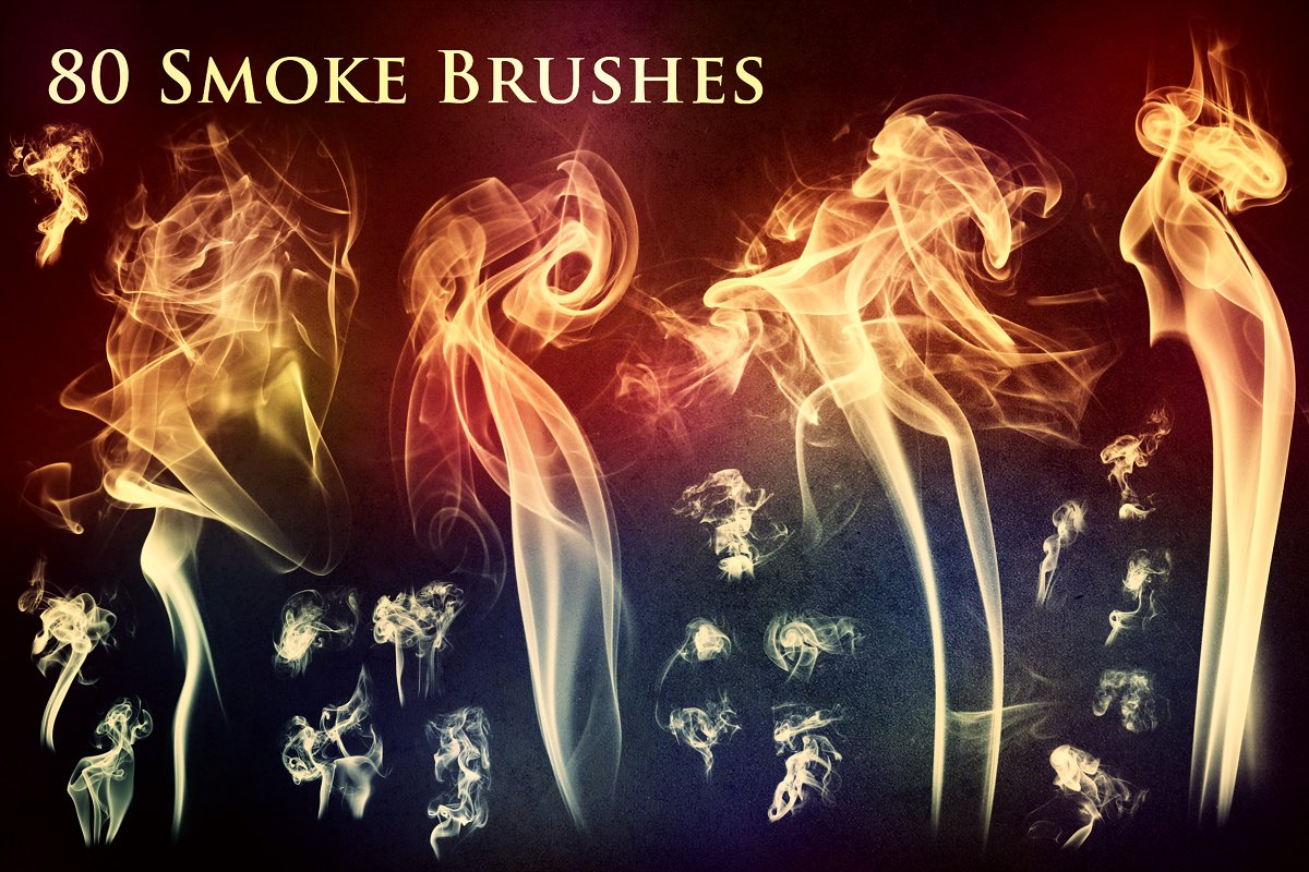 0b76cc79ac6f 80 Smoke and Fire Brushes & PNGs ~ Photoshop Add-Ons ~ Creative Market